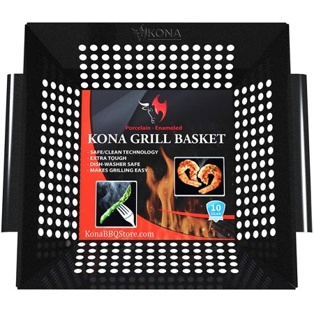 Kona Best Heavy Duty Never Warp Porcelain Enameled BBQ Grilling