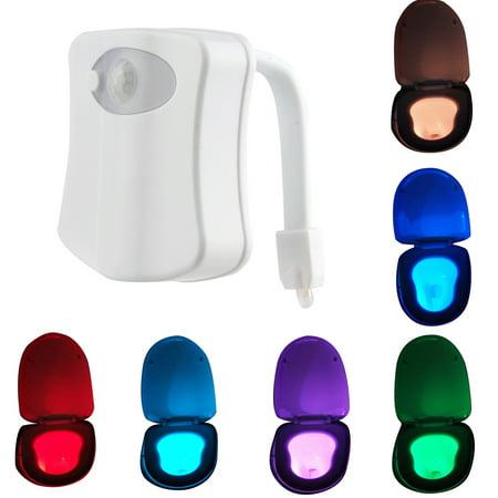 8-Color CBD Automatic LED Body Sensing Motion Sensor Night Lamp Toilet Bowl Bathroom Light