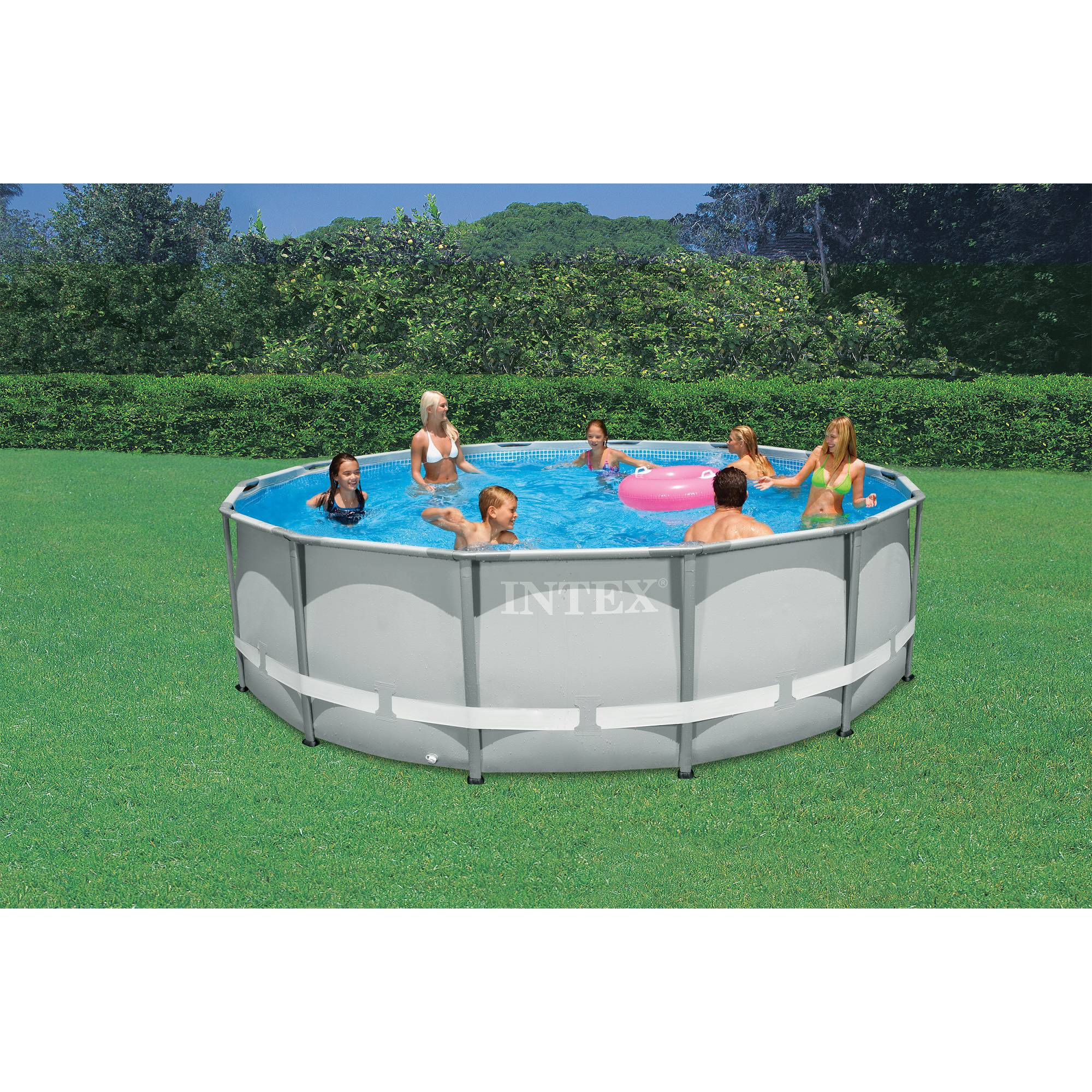 intex 14 x 42 ultra frame above ground swimming pool with filter pump walmartcom