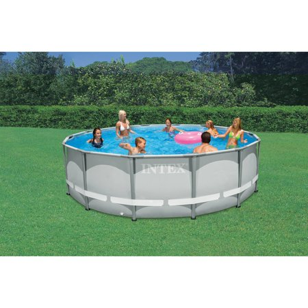 intex 14 39 x 42 ultra frame round pool. Black Bedroom Furniture Sets. Home Design Ideas