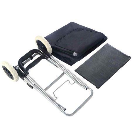 Costway Light Weight Wheeled Shopping Trolley Push Cart Bag Large Capacity - image 3 of 9