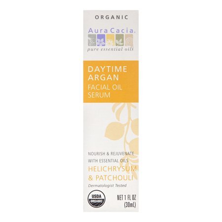 Aura Cacia Daytime Again Facial Oil Serum, Helichrysum & Patchouli, 1 Fl Oz