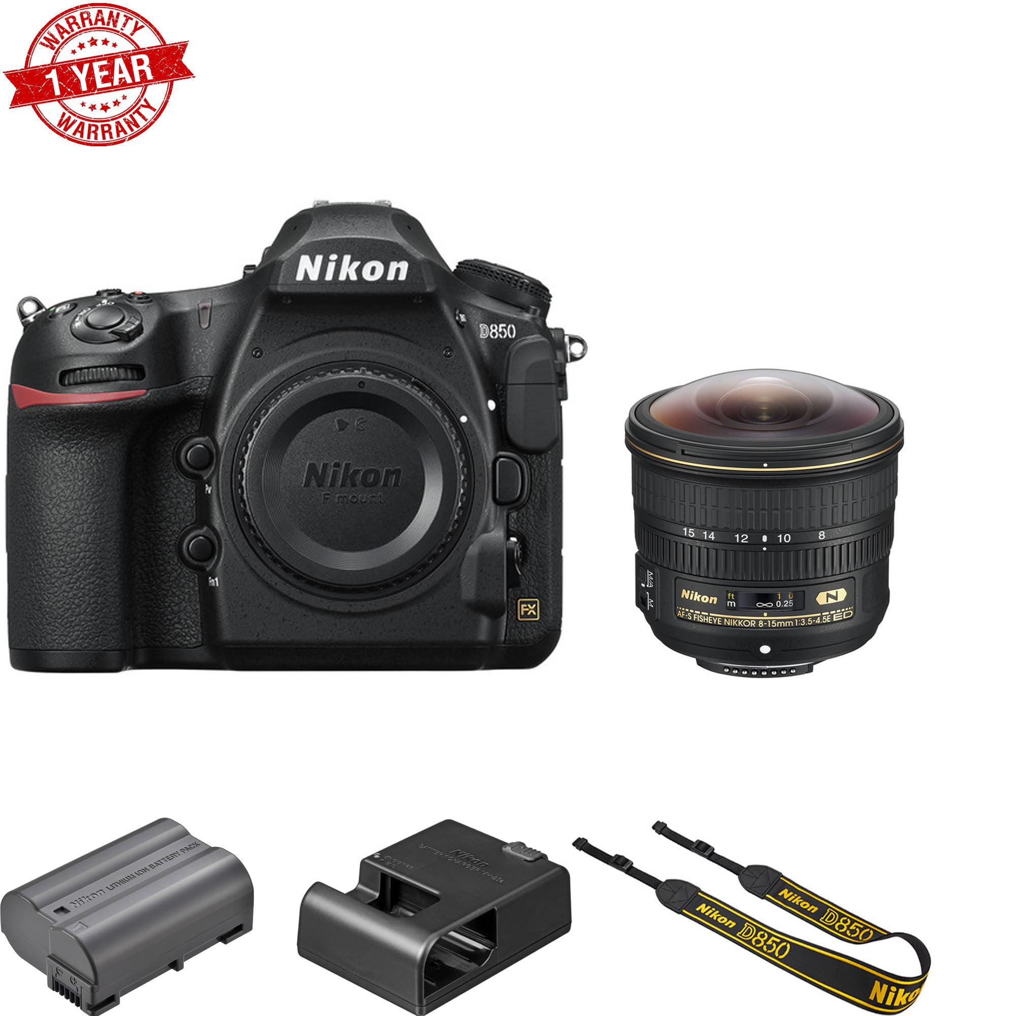 Nikon D850 FX-format Digital SLR Camera Body w/ AF-S FISHEYE NIKKOR 8-15mm  f/3 5-4 5E ED Lens