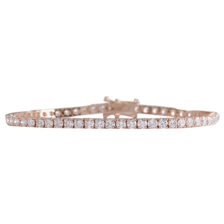 1.00 CTW Natural Diamond Bracelet In 14K Gold Ugg Womens Diamond