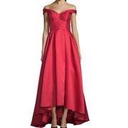 Women's Dress Petite Gown Off-Shoulder High-Low 4P