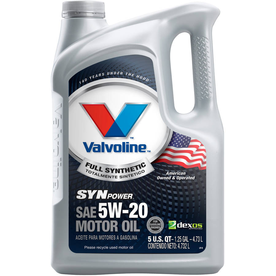 Valvoline SynPower Full Synthetic 5W-20 Motor Oil, 5 Quarts