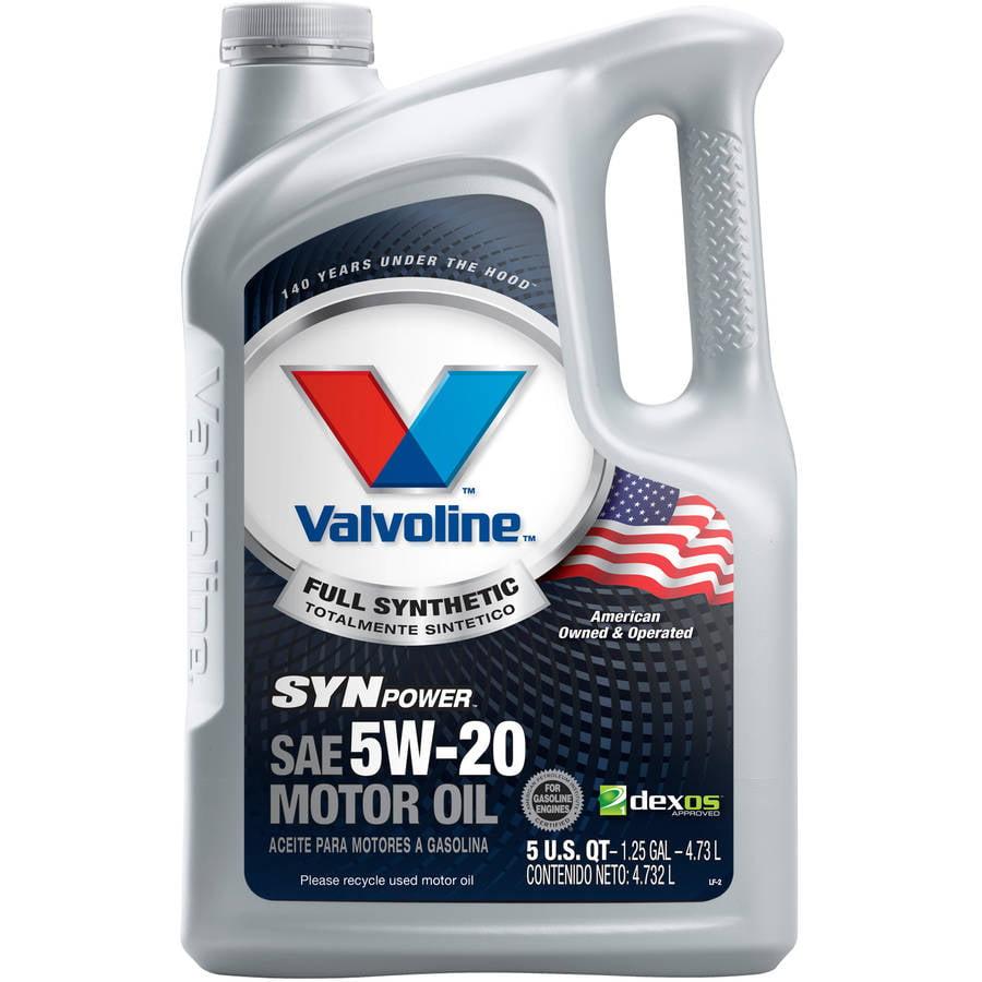 Valvoline SynPower Full Synthetic 5W-20 Motor Oil, 5 Quarts