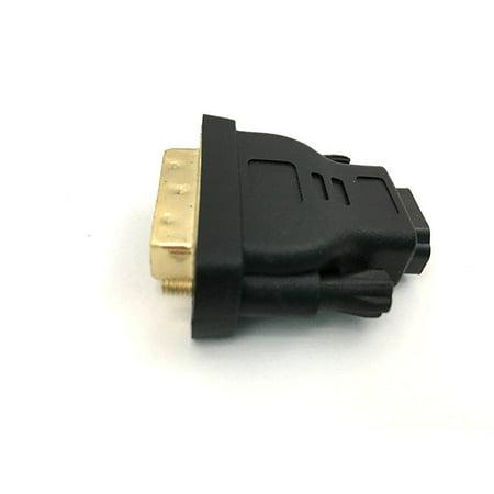 Female Adapt (Xavier DVIM-HDMIF DVI-D Dual Link Male to HDMI Female Adapter, Adapts DVI to HDMI, Vice Versa, Black )