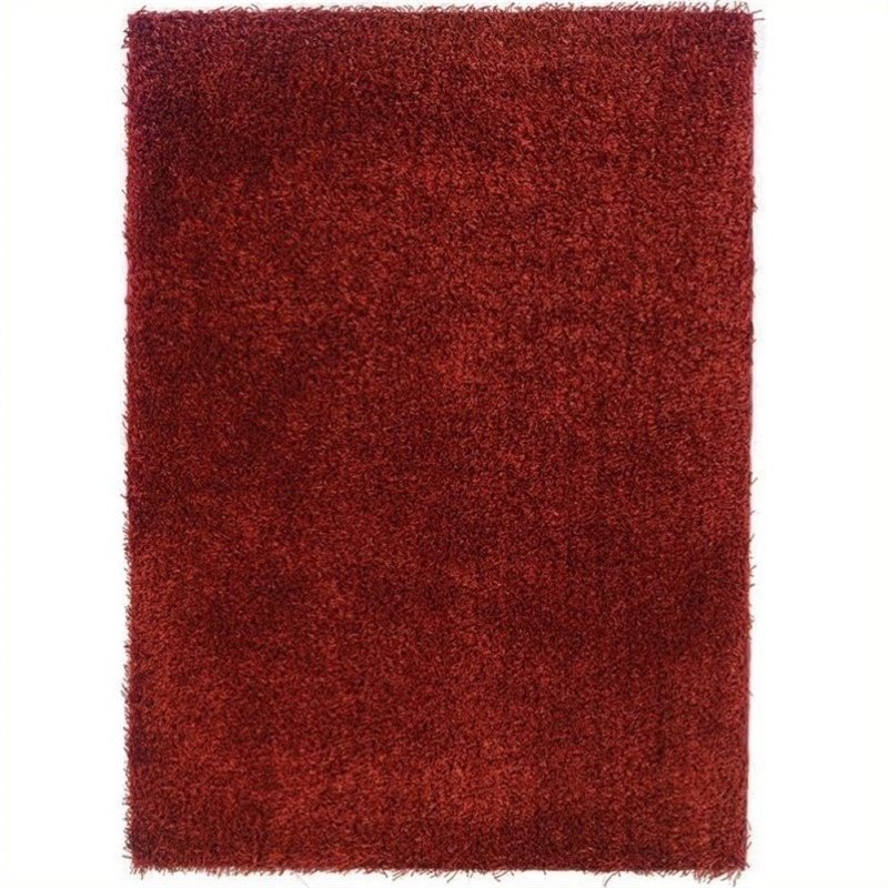 "Hawthorne Collection 1'10"" x 2'4"" Hand Tufted Area Rug in Copper"