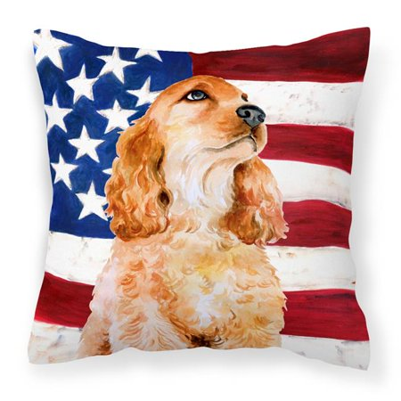 Carolines Treasures BB9706PW1818 Cocker Spaniel Patriotic Fabric Decorative Pillow - image 1 de 1