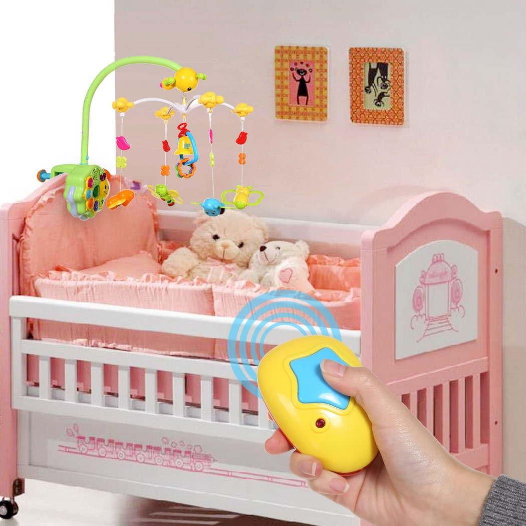 Multifunctional Baby Bedside Hanging Rattle Toys & Musical,Light, Remote Control by Unbrand
