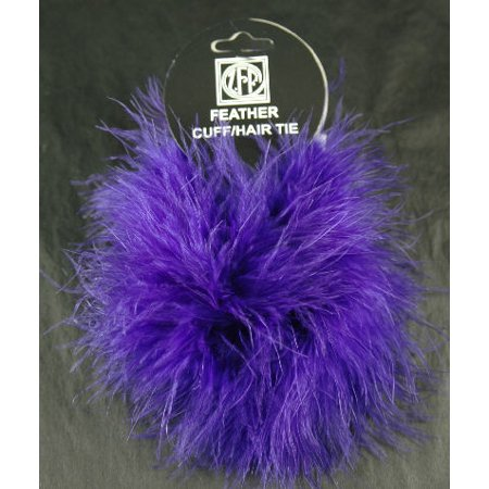 Zucker Feather 2 Regal Purple Feather Scrunchy Pony Tail Holders ()