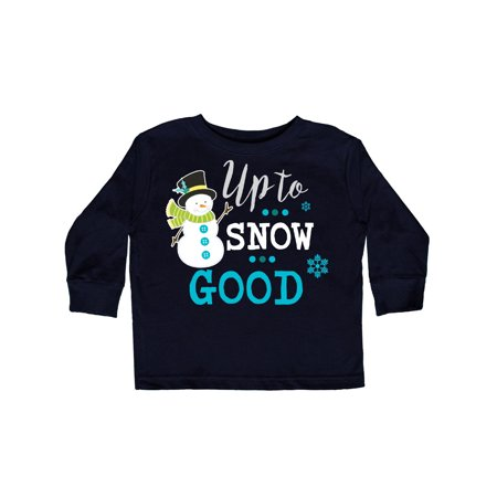 0fff86f33 Inktastic - Up to Snow Good with Snowman and Snowflakes Toddler Long Sleeve  T-Shirt - Walmart.com