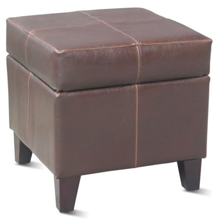 Small storage ottoman brown walmartcom for Storage ottoman walmart