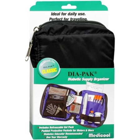 DIA-PAK Classic Diabetic Supply Organizer 1 Each (On The Go Diabetic Organizer)