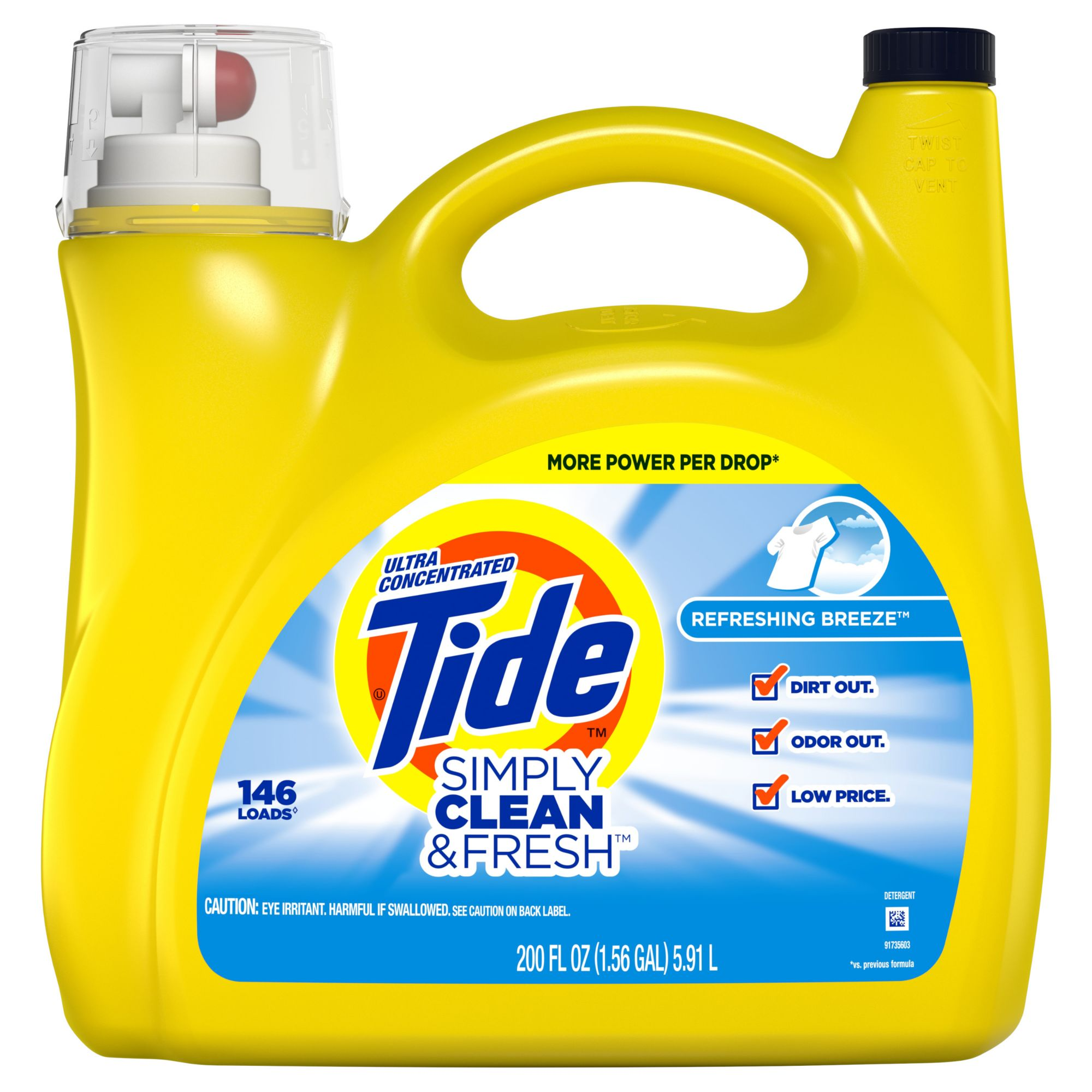 Product Of Tide Simply Clean & Fresh Refreshing Breeze ...