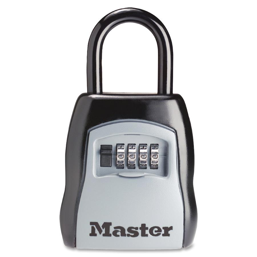Master Lock Portable Storage Lock, Black, Silver