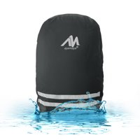 30L/40L Waterproof Backpack Rain Cover with with Stored Bag,iClover Lightweight Durable Hiking Backpack Daypack Cover Elastic Adjustable Raincover Pack Bag Cover for Travel Camping Black