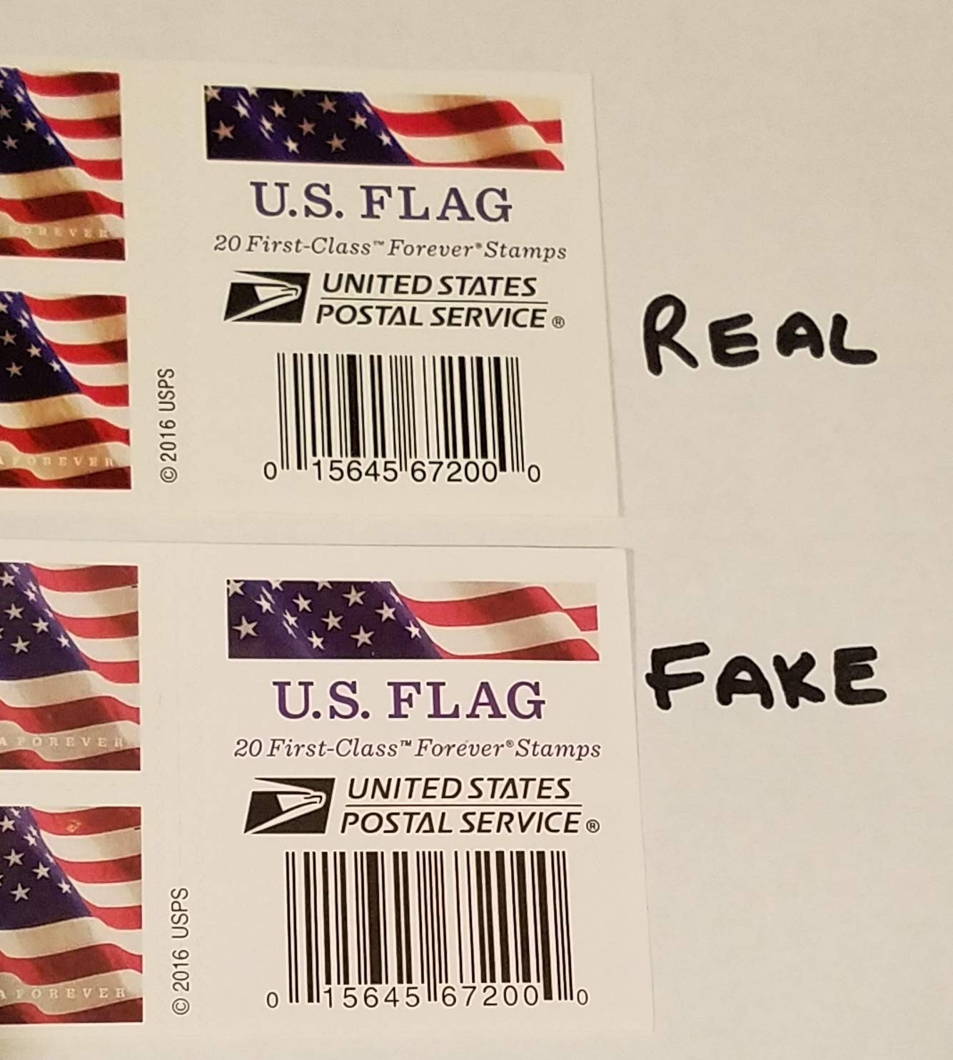US Flag Forever Stamps - 40 Stamps (two books of 20), U S  Flag USPS  Forever Stamps - 2016, 2017, or 2018 Release By USPS