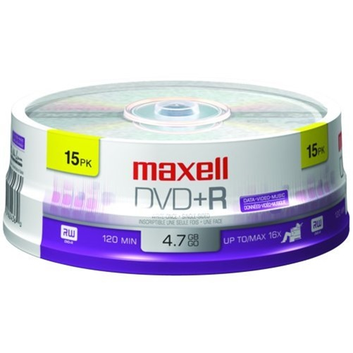 Maxell 16x DVD+R Media - 4.7GB - 15 Pack