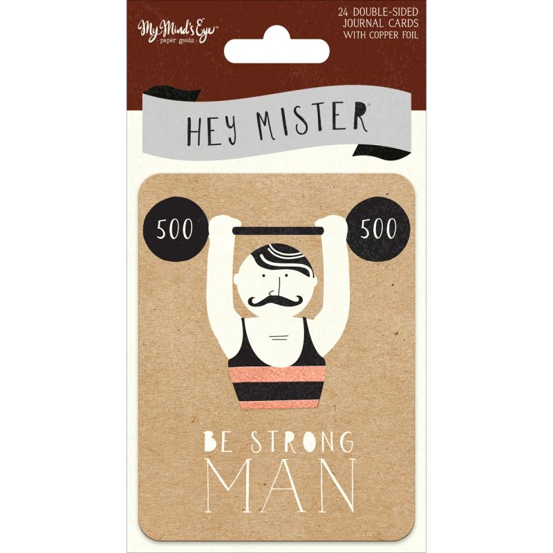 """Hey Mister Double-sided Journal Cards 24/pkg-3""""x4"""", W/copper Foil"""