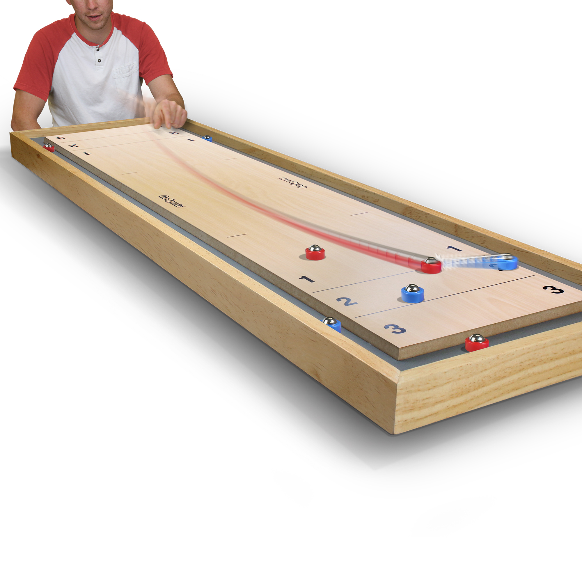 gosports shuffleboard and curling 2 in 1 board game. Black Bedroom Furniture Sets. Home Design Ideas