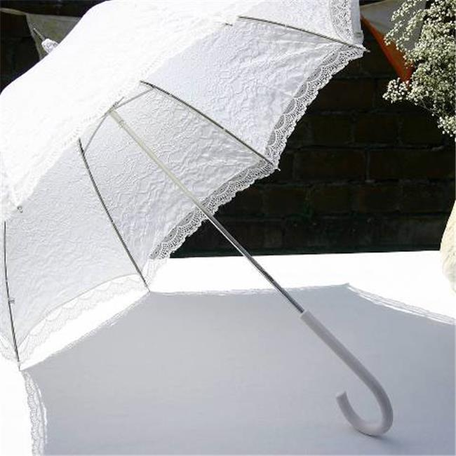 Elite Rain Frankford WL01 White Lace Wedding Umbrella