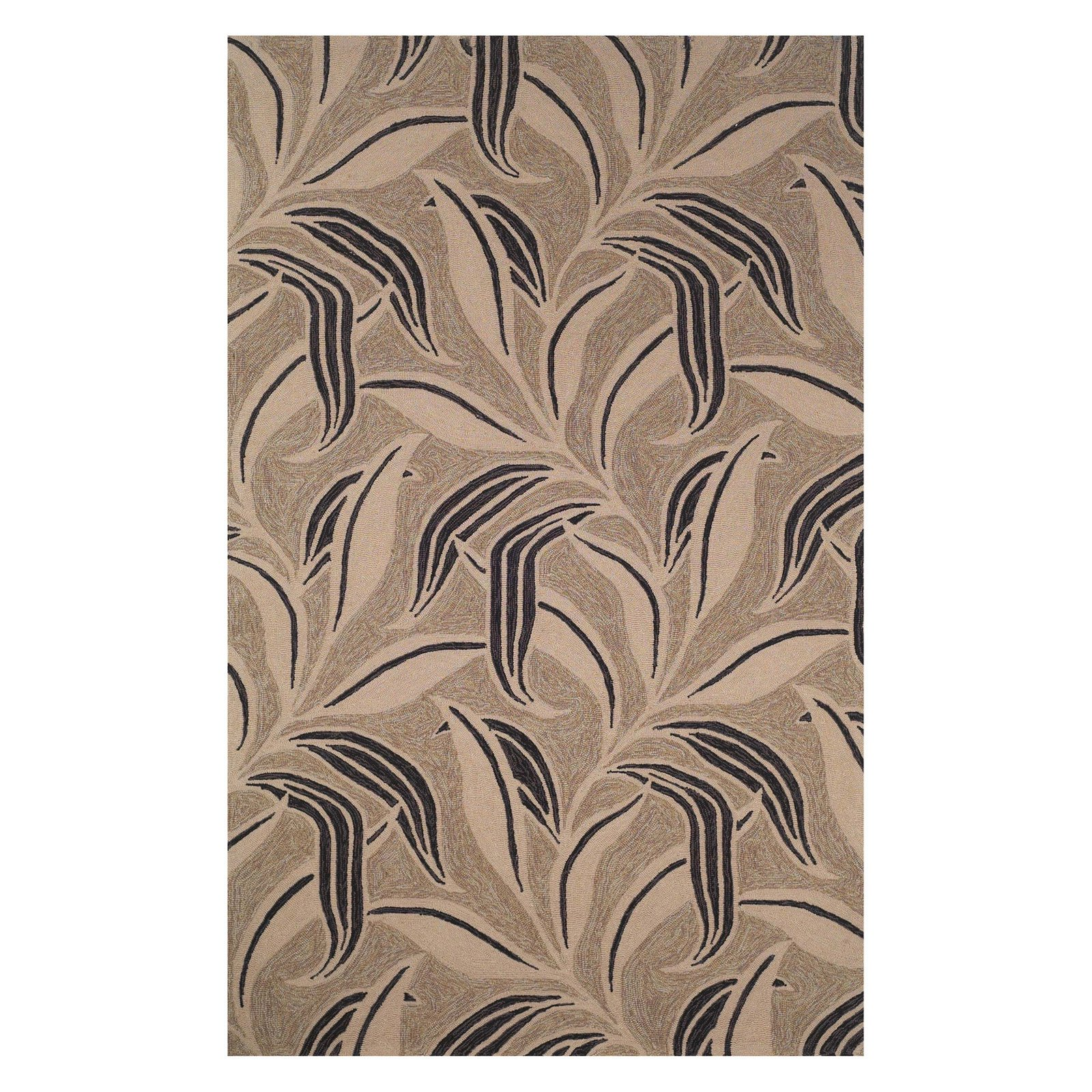 "Ravella Leaf Rug-Color:Off White/Neutral,Size:36""Lx24""Wx0.5""H"