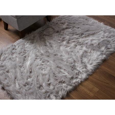 Serene Super Soft Faux Sheepskin Shag Silky Rug Baby Nursery