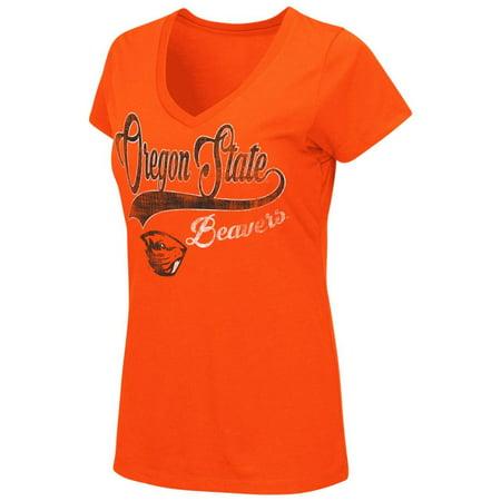 - Oregon State Beavers Women's Tee Short Sleeve V-Neck T-Shirt