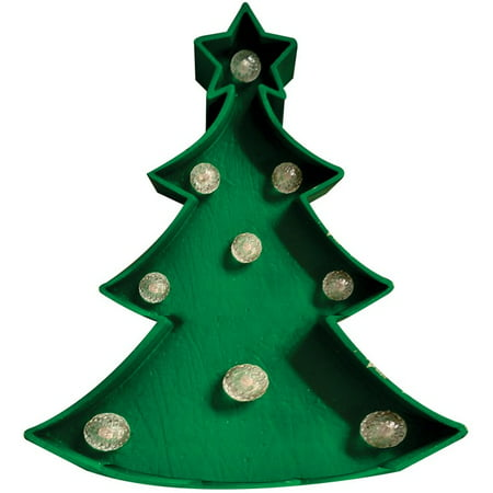 Home Plus 54036 71h Christmas Led Table Tree Plastic Green 7 Dia