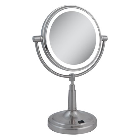 Zadro Lighted Makeup Mirror.Zadro Led Lighted 5x 1x Satin Nickel Vanity Mirror