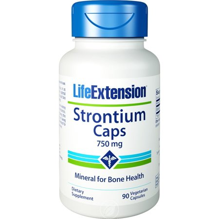 Life Extension - Strontium Caps, Mineral for Bone Health, 750 mg, 90 Veggie Caps, Pack of 2