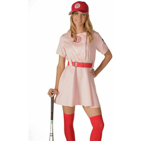 Rockford Peaches Women's Adult Halloween Costume (Halloween Costumes Princess Peach Mario)