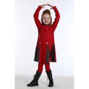 Cherry Bria Pleated Dress and Leggings Set Girls 10
