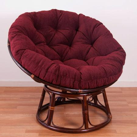 International Caravan 42 in. Papasan Chair with Jacquard Chenille Cushion ()