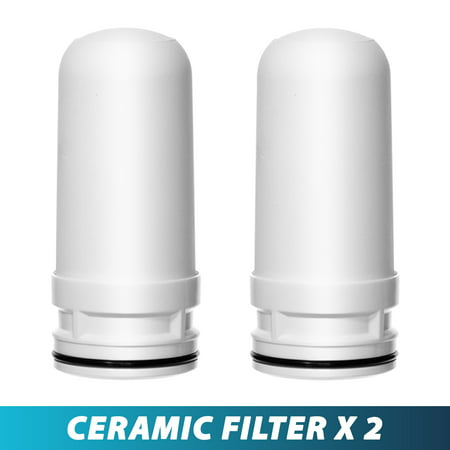 Ceramic Replacement Cartridge for LittleWell Faucet Mount Water Filters DFC1, DFW1, DFW2 (Pack of 2) ()