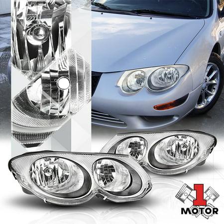 Black/Chrome Housing Clear Lens Replacement Headlight for 99-04 Chrysler 300M 00 01 02