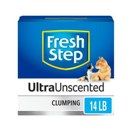 Fresh Step Ultra Unscented Litter, Clumping Cat Litter, 14 Pounds Hypoallergenic Cat Litter