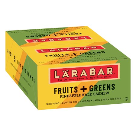 Larabar Gluten Free Bar Fruits + Greens Pineapple Kale Cashew Bars