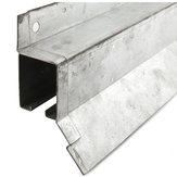 Heavy Duty Galvanized Steel Box Rail with Flashing - 24651090GABC - Rail Length 12 ft, Product Type Track, Door Type Wood, Steel Frame, MDF, Door