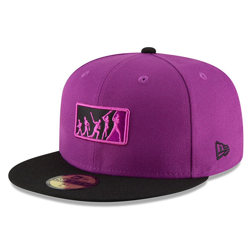 Colorado Rockies New Era 2018 Players' Weekend Team Umpire 59FIFTY Fitted Hat - Purple/Black