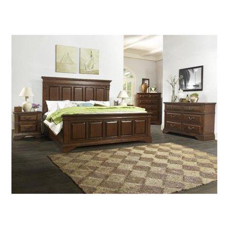 dorel fine furnishings mcallen 5 piece king bedroom set in cherry