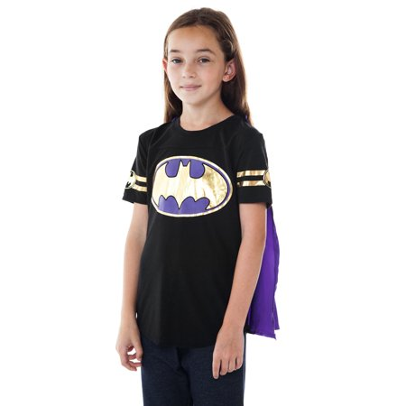 DC Superhero Girls Batgirl Dress Up Costume T-Shirt w/ Cape