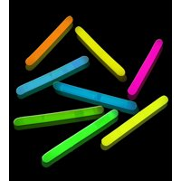 "Lumistick 2"" Glow Sticks, Assorted Colors, 100 ct"