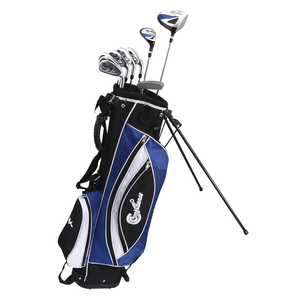 Confidence GOLF Mens RH POWER II Hybrid Steel Club Set & Stand Bag