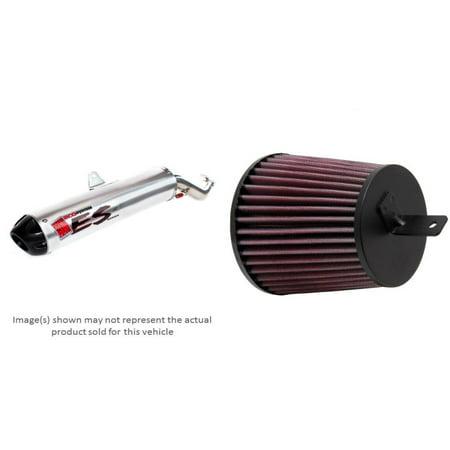 BIG GUN ECO Slip-On Muffler and K&N Air Filter for SUZUKI LT-Z400 QuadSport 2012-2013