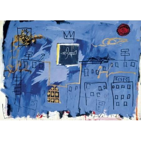 Untitled  1981 (Plane & Skyline) Poster Print by Jean-Michel Basquiat (9 x 6)