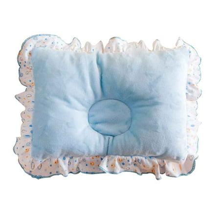Newborn Baby Girls Flower Stereotypes Pillow Infant Velvet Pillow Head Support Nursing Headrest Sleep Ruffle Brim