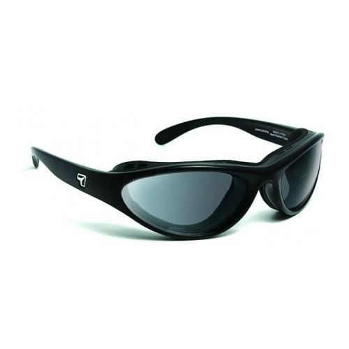 Image of 7 Eye Viento AirShield Sunglasses, Matte Black Frame, Photochromic Day Night Eclyp